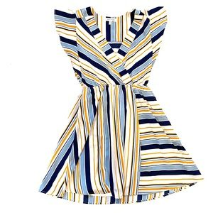 Monteau striped Spring Dress sz M
